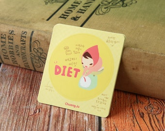 Pony Brown Girl DIET Point stickers set
