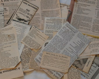 30 Vintage Recipes Cut from Newspapers - Recipe Box Collection 1950s-80s