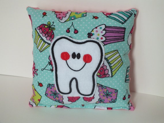 Cute Tooth Pillow : Tooth Fairy Pillow Cute Cupcake Pillow Tooth Pillow by kuddlebumz