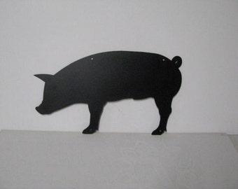 Pig  Large Metal Farm Wall Art Silhouette