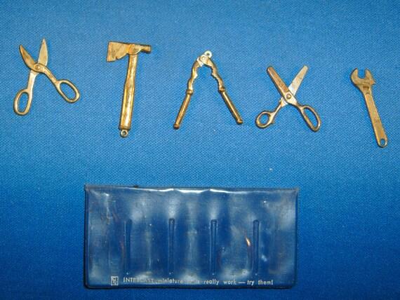 Vintage Gries Die Cast Metal Miniature Working Tool Charms