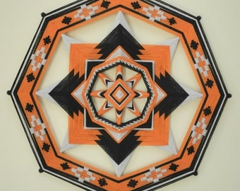 3 colors of your choice, Ojo de Dios, 8-sided, 24 inches, acrylic yarns