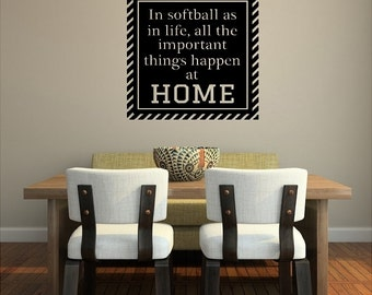 In Softball Decal Wall Sticker Removable Softball Lettering 2 Sizes! KW025_D
