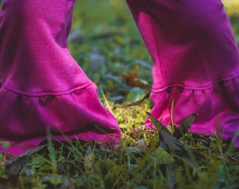 Ruffle Pants. Little Girl's Ruffle Pants. Pink Ruffle Pants. Fall Outfits. Children's Ruffle pants