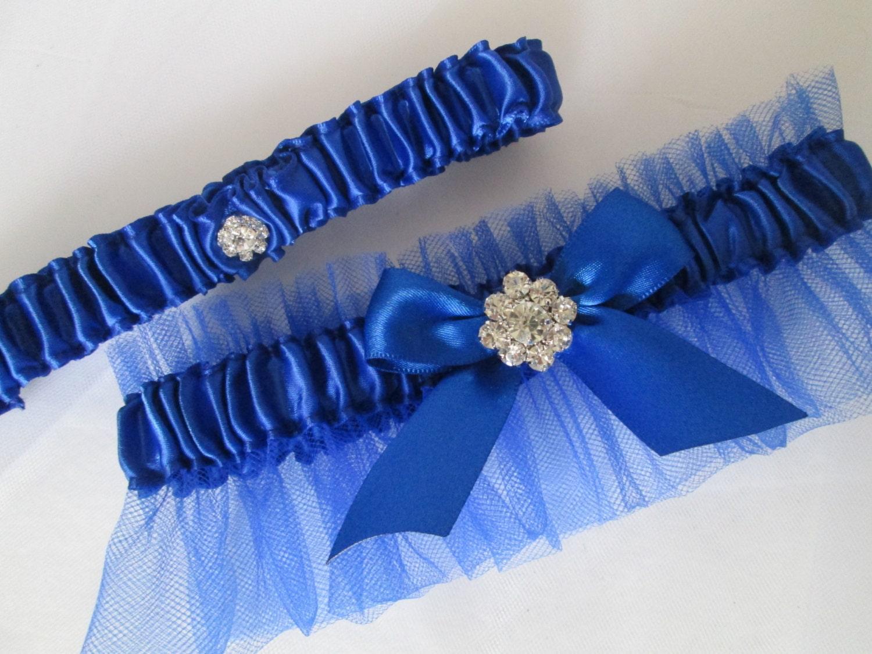 Royal Blue Wedding Garter Set Royal Blue Prom Garters With
