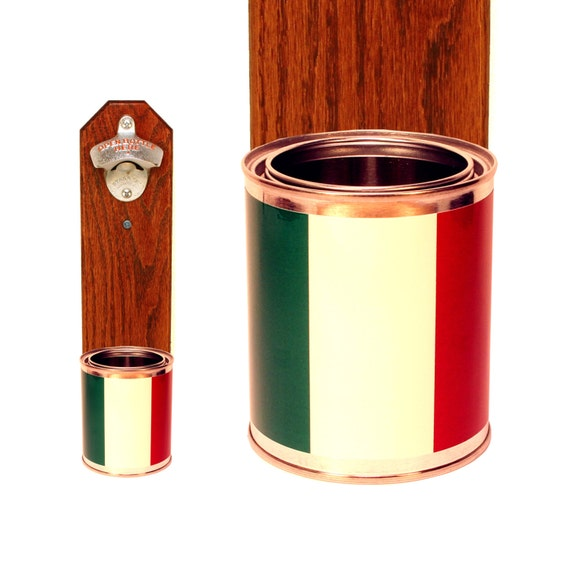 italian flag beer bottle opener with wall mounted by handysam. Black Bedroom Furniture Sets. Home Design Ideas