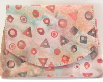 Geometrics on Pink Batik Wallet