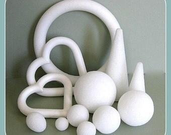 Styrofoam Craft Foam Forms Craft Balls Floral Balls Craft Cones Round Ball Craft Egg Snowballs Foam Shapes Foam Heart Topiary Wedding Crafts