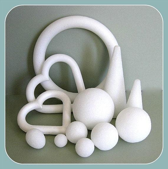 Styrofoam craft foam forms craft balls floral balls craft for Styrofoam forms