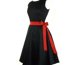 On Sale  !!!Classic Black Full Circle Dress