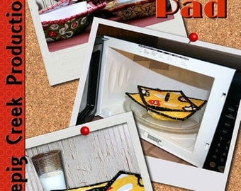 Hot Bowl Hot Pad and Splatter Guard ~ Paper Pattern ~ Microwave Hot Pad for Bowls plus Splatter Guard by Whistlepig Creek #1217