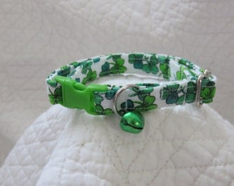 St Patrick Cat  Breakaway Collar Custom Made