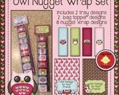Printable Owl Nugget Treat Set