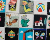 RESERVED - Set of 15 Vintage Childrens Memory Playing Cards - Set Nr. 12