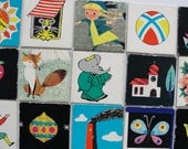 Set of 15 Vintage Childrens Memory Playing Cards - Set Nr. 12