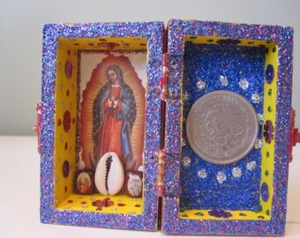 Our Laday of Guadalupe mini nicho, altar, catholic, Mexican, saint, shrine