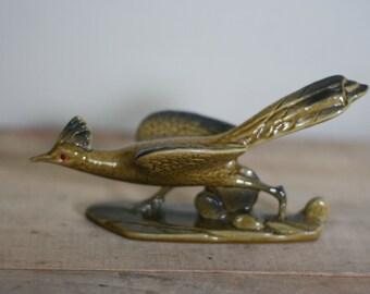 vintage running bird figurine roselane pasadena