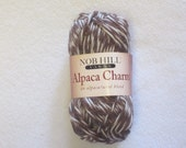 Nob Hill Alpaca Charm Yarn Color Brown and White DISCONTINUED