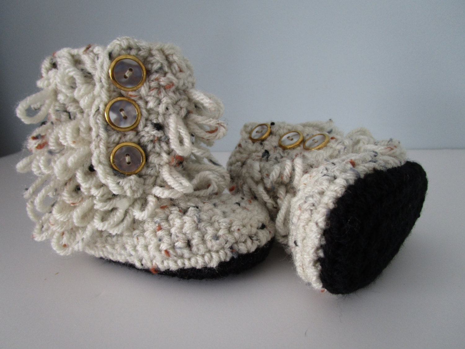 Baby Crochet Ugg Boots 6 12 months Rain Boots by KathieSewHappy
