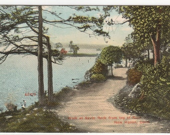 Walk at Savin Rock New Haven Connecticut 1914 postcard