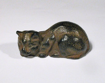 Vintage Japanese  Iron Cat Paperweight