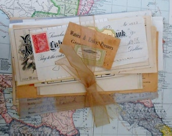40 Piece Vintage Paper Ephemera Pack 1930s -1950s