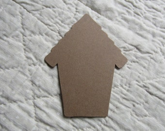 DIY Bird House Crafts-Chipboard Bird Houses-Spring Home Decor-Unfinished Bird House-Blank Chipboard Bird House Shape