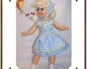 Toni Doll Clothes Pattern - Sleeveless Dress, Kerchief - No. 204