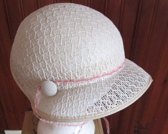 Eggshell Cloche Hat