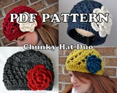 PDF PATTERNS - Chunky Hat Duo