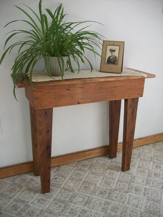 Reclaimed wood Fremont Sofa Table TC76 5