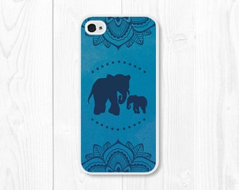Elephant iPhone 6 Case Mandala iPhone 5c Case Elephant iPhone 5 Case Blue iPhone 6 Plus Case Mandala iPhone Case Elephant iPhone 4 Case