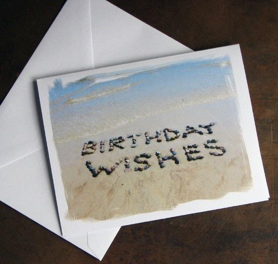 beach theme birthday cards birthday wishes set of, Birthday card