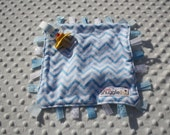 Baby Blue Chevron Pacifier Snugglie