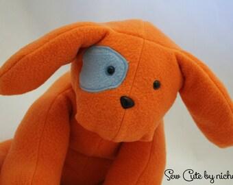 Orange Stuffed Dog