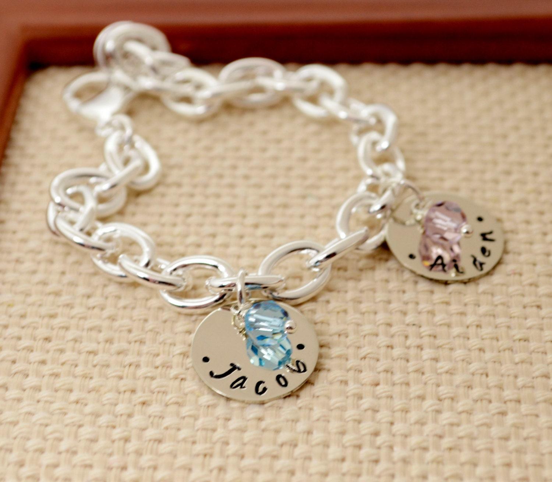 personalized charm bracelet bracelet birthstone