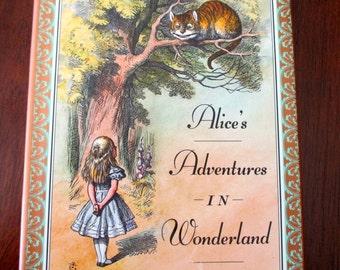 vintage book- Alice in Wonderland - Lewis Carroll, John Tenniel, 1990s
