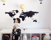 Vinyl Wall Sticker Decal Art - World Map
