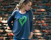 Fern Heart Flowy Long Sleeve