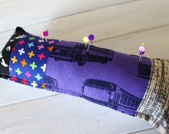Patchwork Pin Cushion Premade and Ready-to-Ship