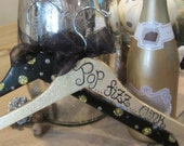 the most dazzling holiday GIFT for anyone who loves CHAMPAGNE, two beautiful custom painted hangers