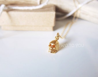 The 'Hades' Skull 24kt Gold Plated Sterling Silver Necklace - Insurance included in ALL domestic shipping!