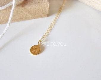 Tiny Lotus Gold Plated Necklace - Insurance included in ALL domestic shipping!