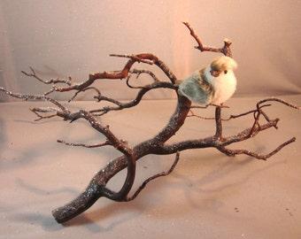 Manzanita Winter Branch with Snow Bird