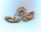 4 Lily Pad Brass Metal Stampings