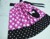 Pink Minnie Theme Little Girl Pillowcase Dress with Applique  Custom Sizes NB-6yrs