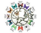 Mothers Birthstone Necklace - Family Birthstone Jewelry For Mom Jewelry - Grandmother Jewelry