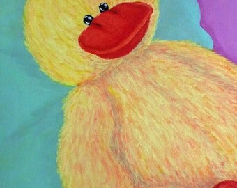 Nursery Painting (Stuffed Ducky)
