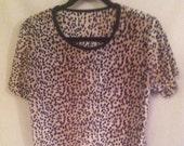 Velour Leopard Pajamas  UNDER 20