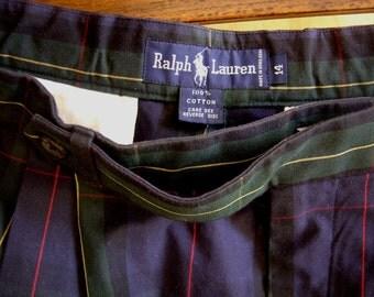 Ralph Lauren Size 14 Ladies Plaid Bermuda Shorts